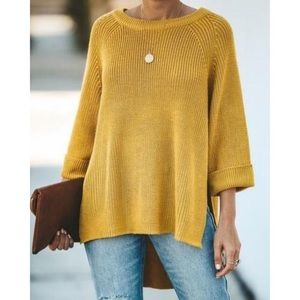 Mote | yellow knit sweater
